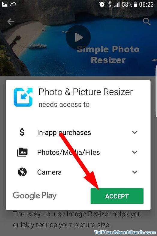 nhấn nút accept để cài đặt