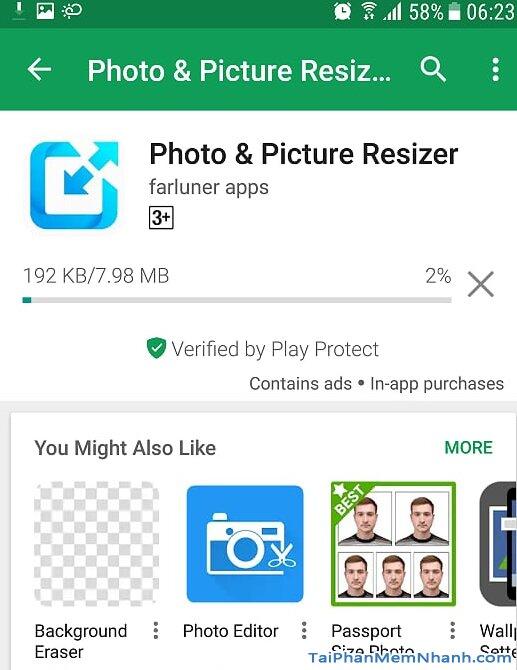 đang tải ứng dụng thay đổi dung lượng ảnh cho android