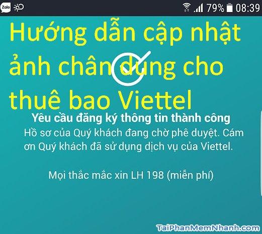 Cách cập nhật ảnh chân dung thuê bao Viettel bằng My Viettel