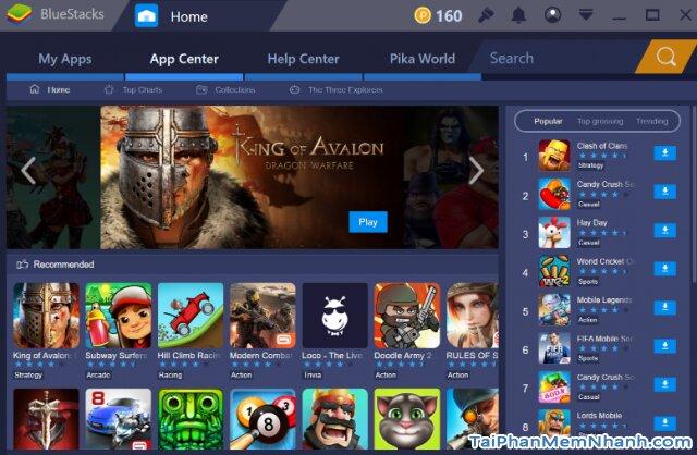 bluestacks 3 có nhiều ứng dụng và game hấp dẫn