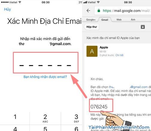 xác minh địa chỉ ID Apple