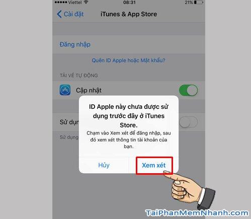 xem xét tài khoản Apple ID