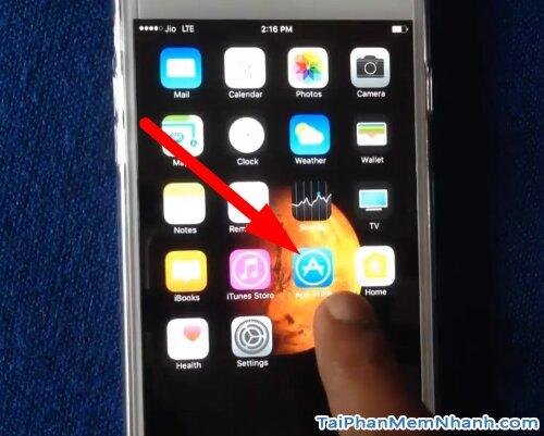 mở app store trên iphone 6