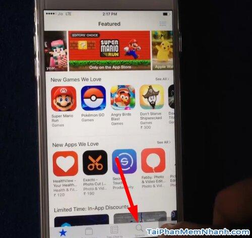 tìm kiếm ứng dụng của App Store