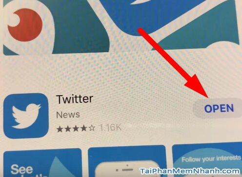 cài twitter cho iPhone X thành công