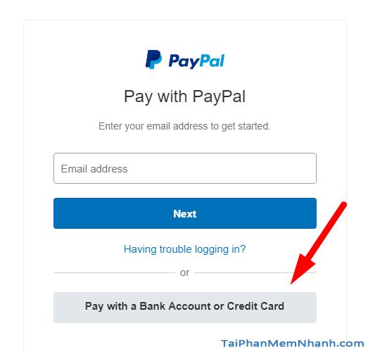 thanh toán tiền mua reset key bằng visa