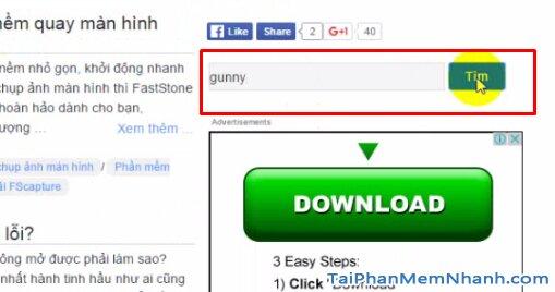 Tìm game gunny trên taiphanmemnhanh.com