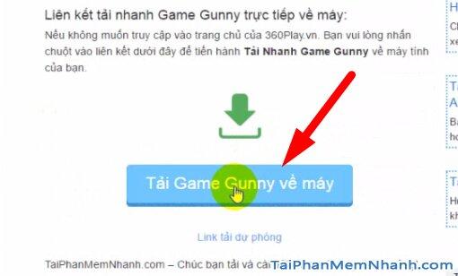 nhấn nút tải game gunny