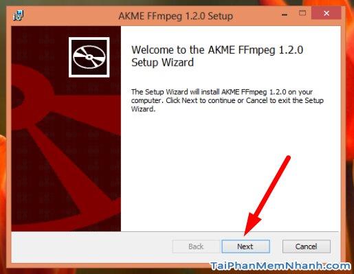 cài đặt FFMPEG - bước 2
