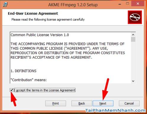 cài đặt FFMPEG - bước 3