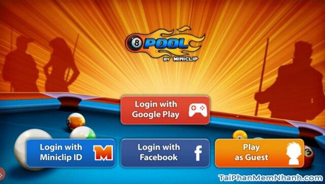 đăng nhập vào game 8 ball pool