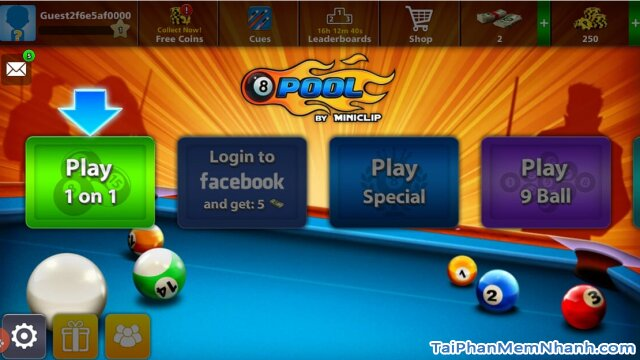 chế độ chơi game 8 ball pool