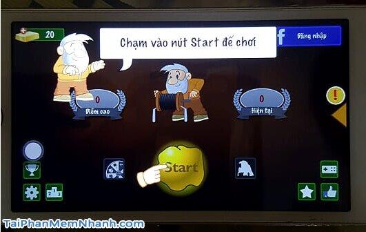 giao diện khởi động game đào vàng