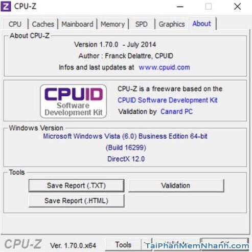 Hướng dẫn kiểm tra cấu hình máy tính, PC & Laptop với phần mềm CPU-Z + Hình 15