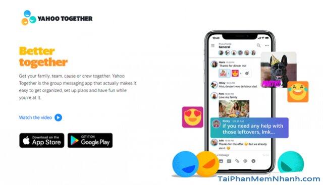 Yahoo tái xuất thị trường - Tải Ứng dụng nhắn tin Yahoo Together cho Android + Hình 2