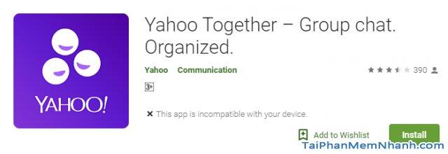 Yahoo tái xuất thị trường - Tải Ứng dụng nhắn tin Yahoo Together cho Android + Hình 3