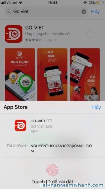 Hướng dẫn tải và cài đặt Go-Viet - ứng dụng gọi xe trên điện thoại iPhone, iPad + Hình 14