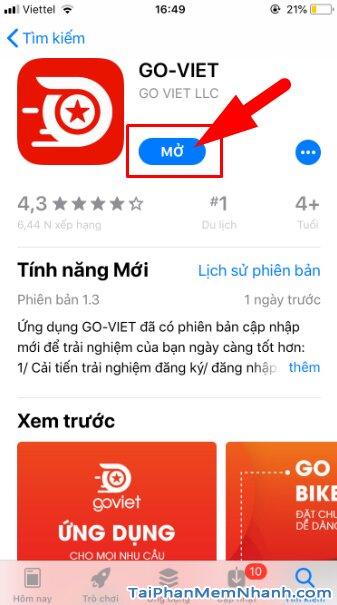 Hướng dẫn tải và cài đặt Go-Viet - ứng dụng gọi xe trên điện thoại iPhone, iPad + Hình 16