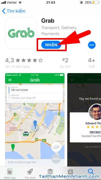 Hướng dẫn tải và cài đặt ứng dụng gọi xe GRAB cho iPhone, iPad + Hình 13