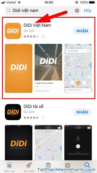 Hướng dẫn tải cài đặt Ứng dụng gọi xe trên di động - DIDI cho iPhone, iPad + Hình 9