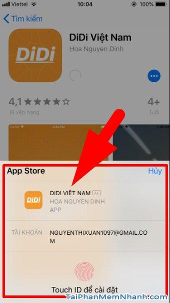 Hướng dẫn tải cài đặt Ứng dụng gọi xe trên di động - DIDI cho iPhone, iPad + Hình 11