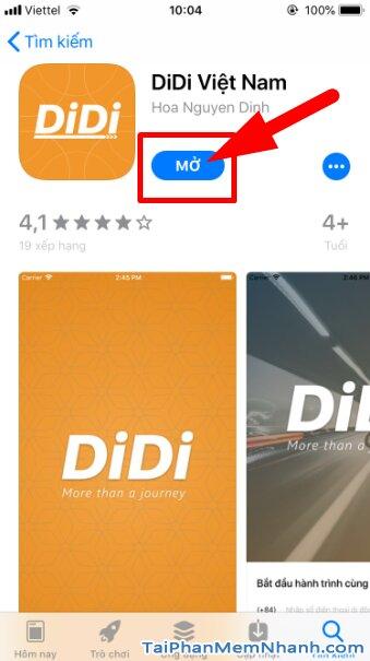 Hướng dẫn tải cài đặt Ứng dụng gọi xe trên di động - DIDI cho iPhone, iPad + Hình 13