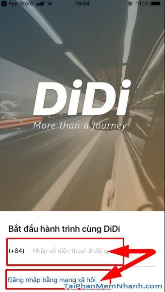 Hướng dẫn tải cài đặt Ứng dụng gọi xe trên di động - DIDI cho iPhone, iPad + Hình 14