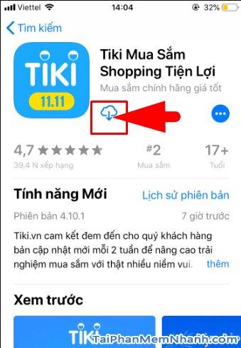 Hướng dẫn tải và cài đặt TiKi - Ứng dụng mua sắm trên iPhone, iPad + Hình 11