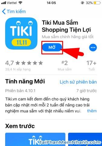 Hướng dẫn tải và cài đặt TiKi - Ứng dụng mua sắm trên iPhone, iPad + Hình 13