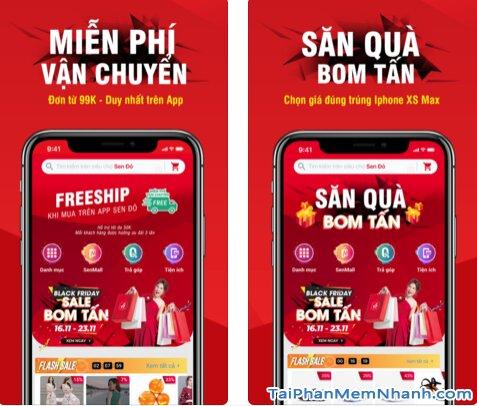 Hướng dẫn tải và cài đặt Sen Đỏ - Tiện ích mua sắm Online trên iOS + Hình 3