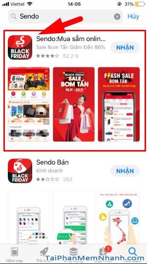 Hướng dẫn tải và cài đặt Sen Đỏ - Tiện ích mua sắm Online trên iOS + Hình 9