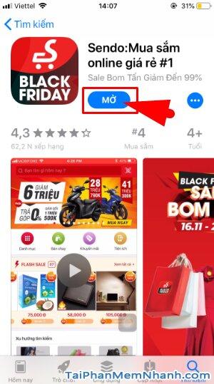 Hướng dẫn tải và cài đặt Sen Đỏ - Tiện ích mua sắm Online trên iOS + Hình 13