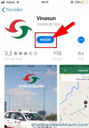 Tải và cài đặt ứng dụng gọi xe VinaSun Taxi cho điện thoại iOS + Hình 9