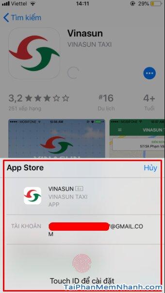 Tải và cài đặt ứng dụng gọi xe VinaSun Taxi cho điện thoại iOS + Hình 10