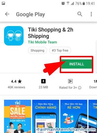 Tải và cài đặt ứn dụng mua sắm online TIKI cho Android + Hình 11