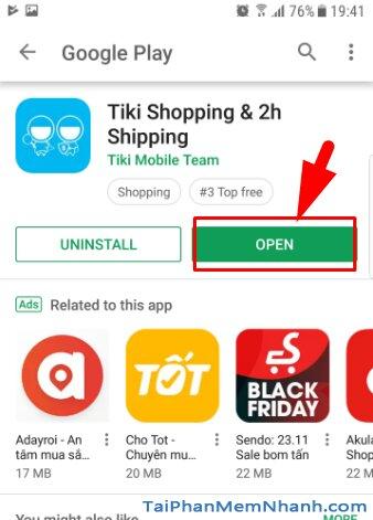 Tải và cài đặt ứn dụng mua sắm online TIKI cho Android + Hình 13