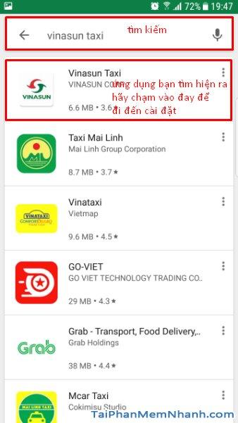 Hướng dẫn tải cài đặt VinaSun Taxi - Ứng dụng gọi xe cho Android + Hình 11