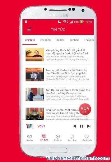 Tải ứng dụng VOV Media - Đài tiếng nói Việt Nam cho Android + Hình 5