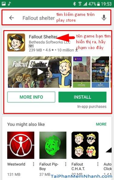 Tải cài đặt game Fallout Shelter cho điện thoại Android + Hình 9