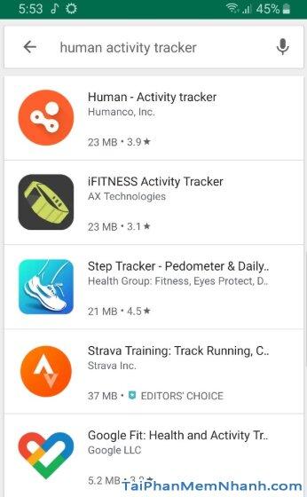 Tải Human Activity Tracker - Theo dõi hoạt động thể thao trên Android + Hình 9