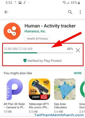 Tải Human Activity Tracker - Theo dõi hoạt động thể thao trên Android + Hình 11