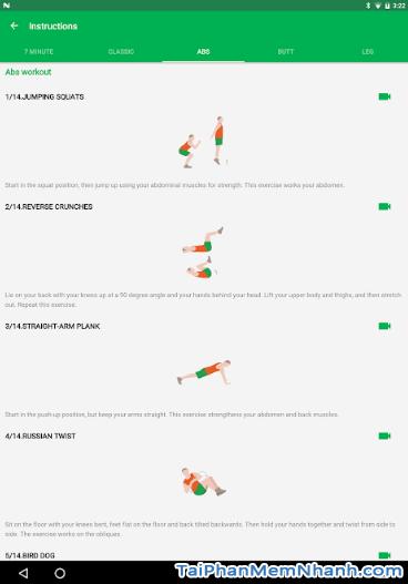 Tải Seven - 7 Minute Workout: Tập thể thao 7 phút trên Android + Hình 7