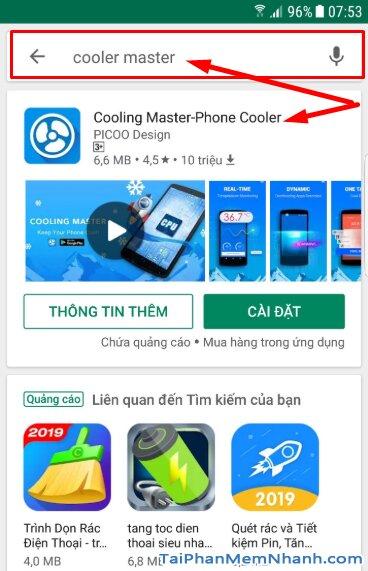 Tải Cooling Master: App hạ nhiệt khi smartphone Android nóng + Hình 9