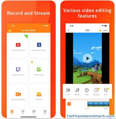 Tải DU Recorder - Trình Ghi & Live Stream màn hình trên iPhone, iPad + Hình 2