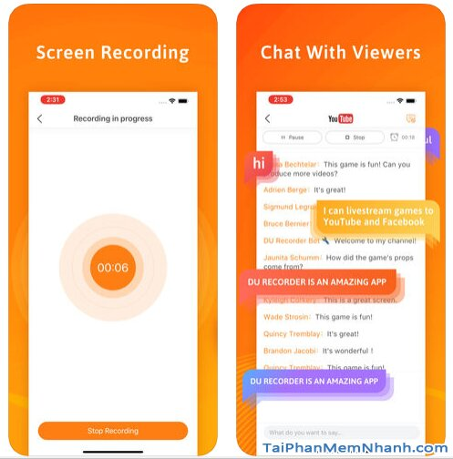 Tải DU Recorder - Trình Ghi & Live Stream màn hình trên iPhone, iPad + Hình 5