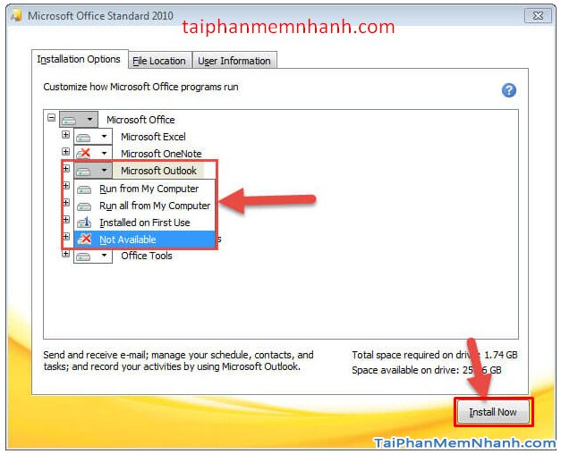 Cài hai bản Office 2003 và Office 2010 trên cùng 1 hệ điều hành + Hình 8