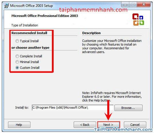 Cài hai bản Office 2003 và Office 2010 trên cùng 1 hệ điều hành + Hình 13
