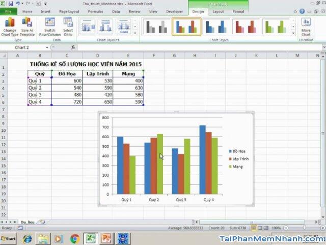 Hướng dẫn sử dụng hàm Index tạo biểu đồ tương tác trong Excel + Hình 3