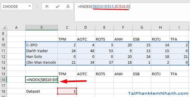 Hướng dẫn sử dụng hàm Index tạo biểu đồ tương tác trong Excel + Hình 7