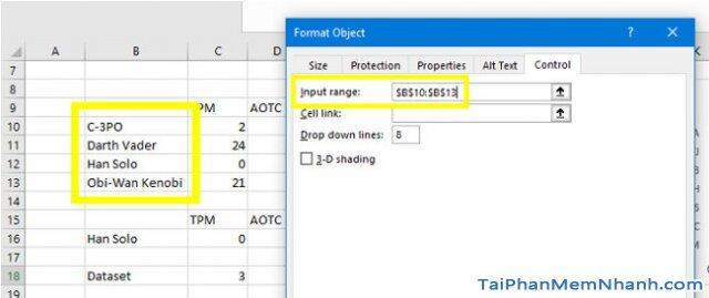 Hướng dẫn sử dụng hàm Index tạo biểu đồ tương tác trong Excel + Hình 15
